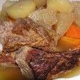 スペアリブと根菜の煮物('08.11あっとレシピ)