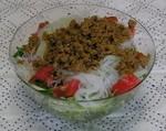 サラダ ひき肉と野菜の混ぜるだけ