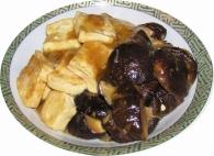 豆腐と干し椎茸のオイスターソース炒め
